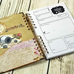 scrapbooking notesy pracownia notatnik krawiecki - retro