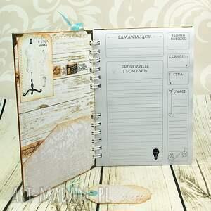 różowe scrapbooking notesy krawiecki notatnik w turkusach