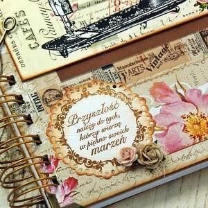 ręczne wykonanie scrapbooking notesy notes w formacie a5 uporządkuje zamówienia