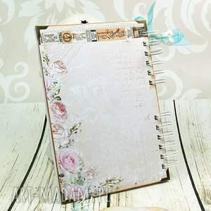 efektowne scrapbooking notesy notes notatnik krawiecki w turkusach
