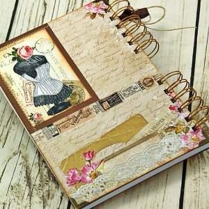 pracownia scrapbooking notesy notatnik krawiecki - retro