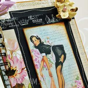 scrapbooking notesy notatnik pani domu retro