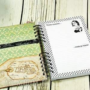 gustowne scrapbooking notesy notes notatnik pani domu retro