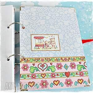 modne scrapbooking notesy dzień notatnik z imieniem