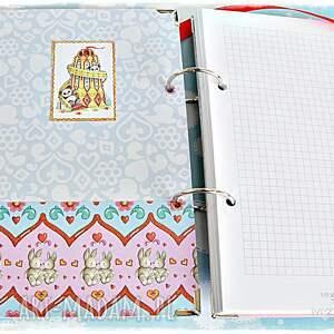 notatnik scrapbooking notesy czerwone z imieniem