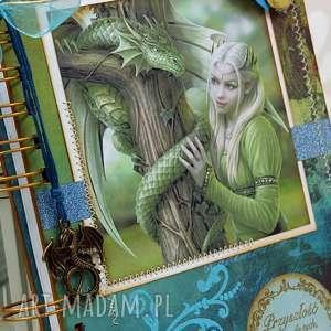 Shiraja scrapbooking notesy: Notatnik/Pamiętnik - smoki i elfy - pamiętnik notes