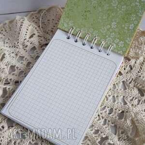 zielone scrapbooking notesy notatnik notes energetyczny