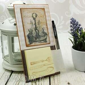 handmade scrapbooking notesy na notes magnes na lodówk&#281