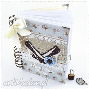 notes scrapbooking notesy niebieskie pamiętnik - zamykany