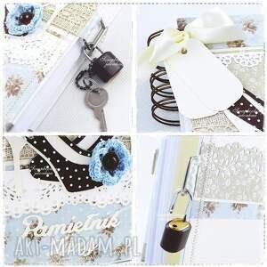 scrapbooking notesy szpilki notes pamiętnik - zamykany