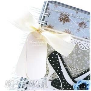 eleganckie scrapbooking notesy szpilki notes - niebieski