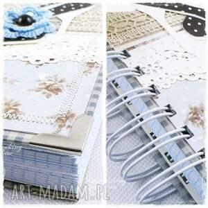 notes scrapbooking notesy niebieskie szpilki - niebieski
