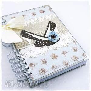 scrapbooking notesy: notes szpilki - niebieski szydelko