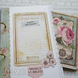 scrapbooking notesy motyle notes / wiosenna dziewczyna