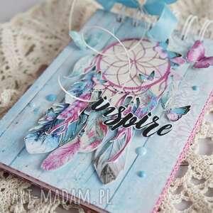 różowe scrapbooking notesy notatnik notes z łapaczem snów