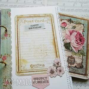 scrapbooking notesy motyle pamiętnik / dziewczyna