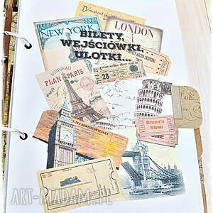 hand made scrapbooking notesy paryż pamiętnik podróży, prezent