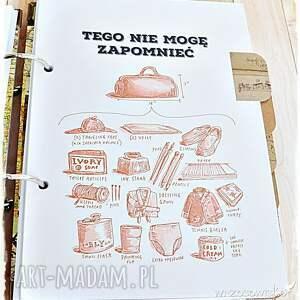 paryż scrapbooking notesy pamiętnik podróży, prezent