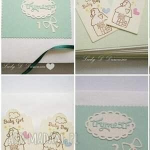 zielone scrapbooking notesy pamiętnik pamiętnik/szkicownik/notes ciążowy