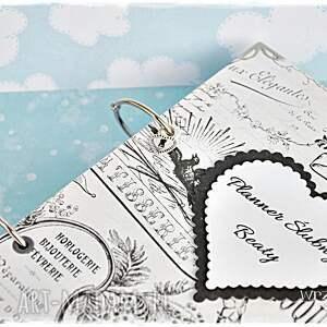 ręczne wykonanie scrapbooking notesy planner planer ślubny - imienny