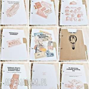 gustowne scrapbooking notesy album planner podróży personalizowany