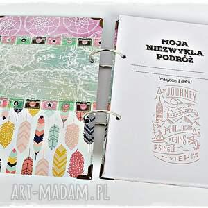 album scrapbooking notesy planner podróży personalizowany