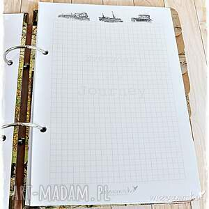 beżowe scrapbooking notesy planer planner podróży personalizowany