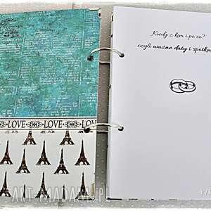 planner scrapbooking notesy turkusowe ślubny imienny - paryż