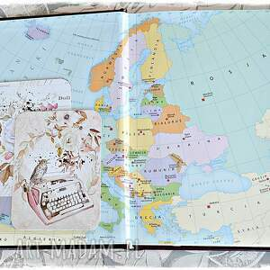 kalendarz scrapbooking notesy różowe podróżuj, śnij, odkrywaj