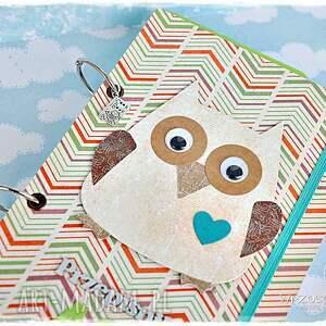 oryginalne scrapbooking notesy książka przepiśnik love sove imienny