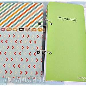 książka scrapbooking notesy zielone przepiśnik love sove imienny