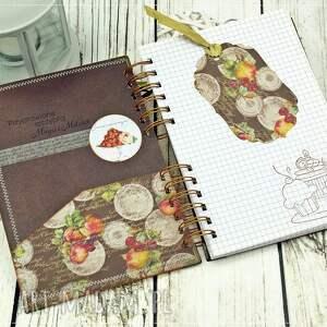 niebanalne scrapbooking notesy przepiśnik przepiśnik- owocowa kuchnia