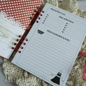 białe scrapbooking notesy przepisy przepiśnik
