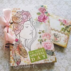 hand made scrapbooking notesy dziewczyna stylowy notes/pamiętnik /on your