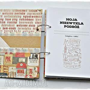 ręcznie zrobione scrapbooking notesy planner travel - podróży, planer