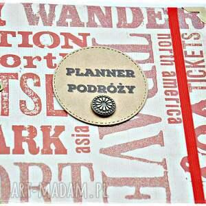 planner scrapbooking notesy czerwone travel - podróży, planer