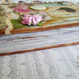styl scrapbooking notesy różowe vintagesekretnik/ pamiętnik for