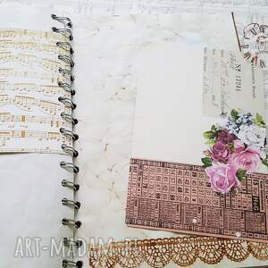 modne scrapbooking notesy ladies vintagesekretnik/ pamiętnik for
