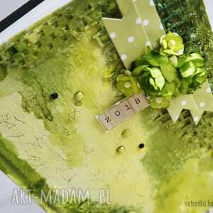 na-biurko scrapbooking notesy zielony kalendarz 2018