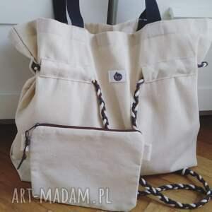 ręczne wykonanie sznurek shopperbag płótno pleciony