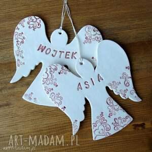 zawieszka ślub anioły na szczęście