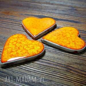ślub serduszka ceramiczne magnesy - podziekowania