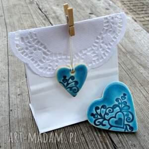 niebanalne ślub podziękowania ceramiczne serduszka na magnes