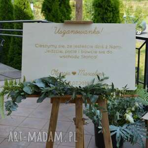 trendy ślub tablica drewniana, grawerowana