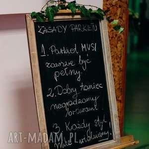 rustykalne ślub drewniana tablica do pisania /