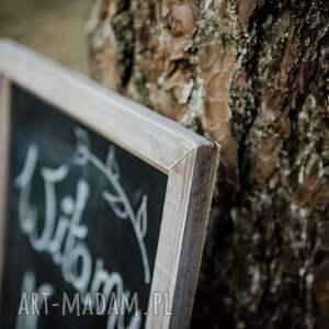 ślub rustykalne drewniana tablica do pisania /