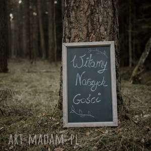gustowne ślub wesele drewniana tablica do pisania /