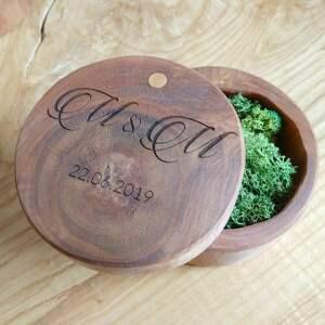 ślub pudełko drewniane na obrączki