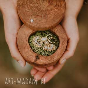 wyjątkowe ślub drewniane pudełko na obrączki