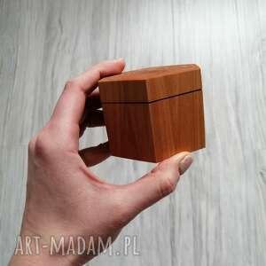ślub heksagon drewniane pudełko na obrączki